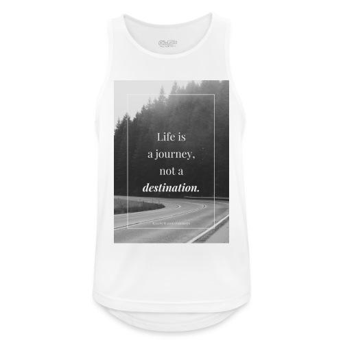Life is a journey, not a destination - Men's Breathable Tank Top