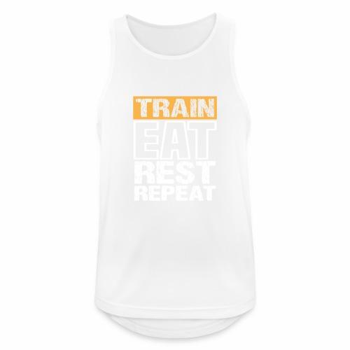 Train, Eat, Rest, Repeat - Training T-Shirt - Männer Tank Top atmungsaktiv