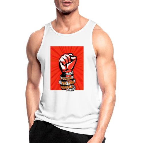 Peace, Power to the people, love, fist pump - Men's Breathable Tank Top