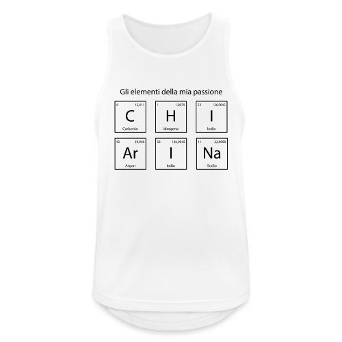 elementi chimici chiarina - Canotta da uomo traspirante