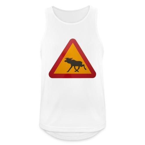Warnschild Elch - Männer Tank Top atmungsaktiv