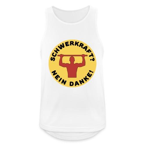 Schwerkraft? Nein Danke! Funny Calisthenics Design - Männer Tank Top atmungsaktiv