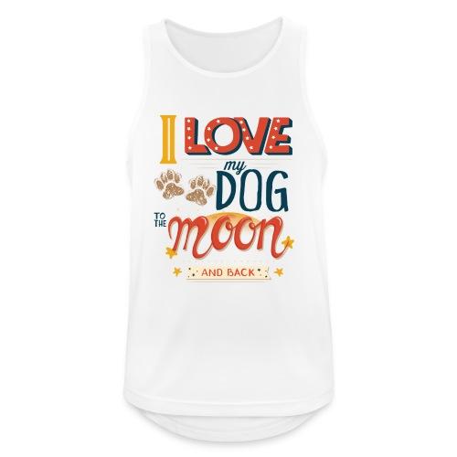 Moon Dog Light - Andningsaktiv tanktopp herr