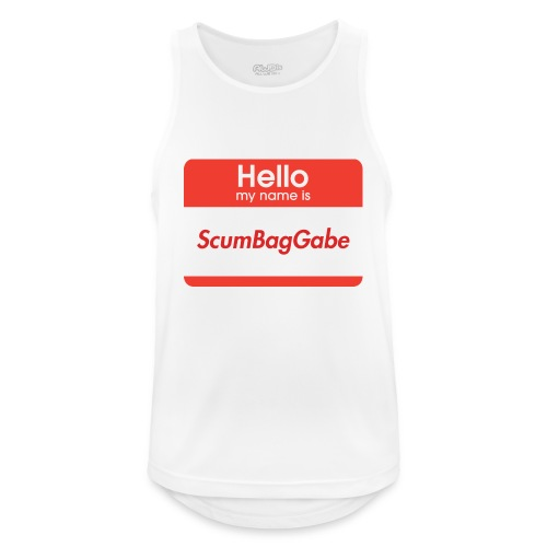 Hello My Name Is ScumBagGabe - Men's Breathable Tank Top