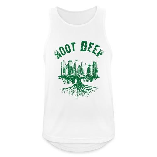 Root deep Urban grün - Männer Tank Top atmungsaktiv