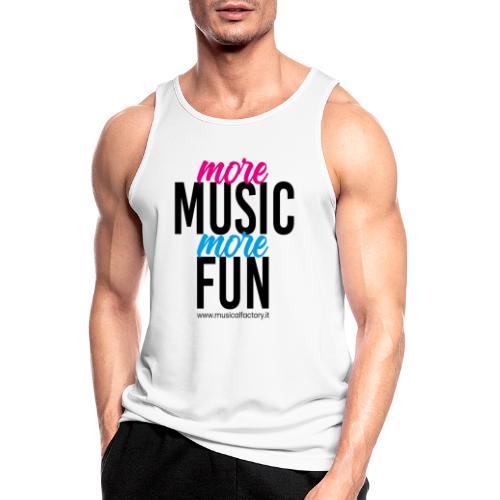More Music More Fun - Canotta da uomo traspirante