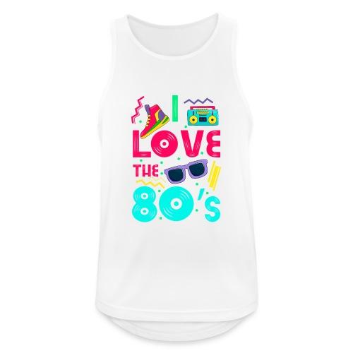 I love the 80s - cool and crazy - Männer Tank Top atmungsaktiv