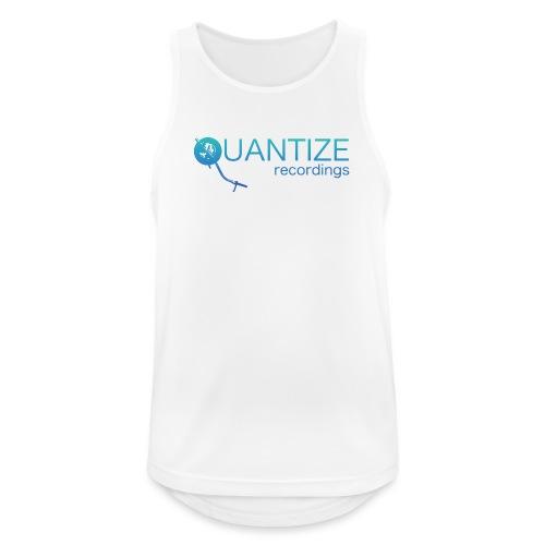 Quantize Gradient Teal/Turquoise Blue Logo - Men's Breathable Tank Top