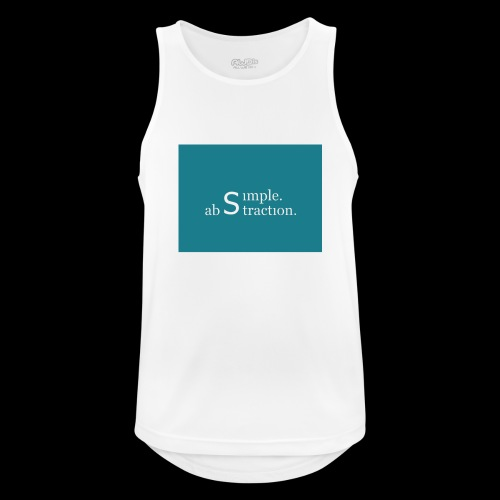 simple. abstraction. Logo - Männer Tank Top atmungsaktiv