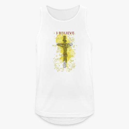 I believe / wierzę (yellow-żółty) - Tank top męski oddychający