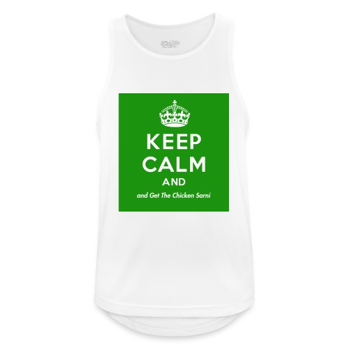Keep Calm and Get The Chicken Sarni - Green - Men's Breathable Tank Top