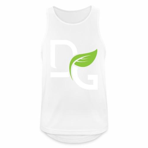 DrGreen Logo Symbol weiss grün - Männer Tank Top atmungsaktiv