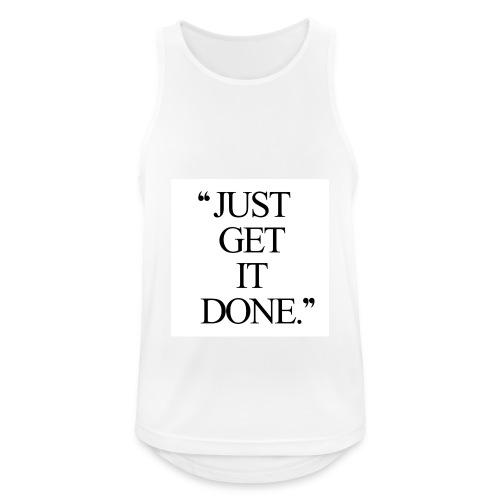 just get it done workout motivation - Herre tanktop åndbar