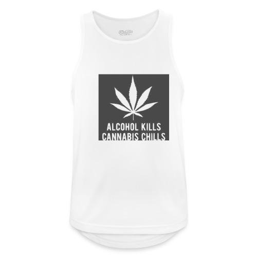 Alcohol Kills, Cannabis Chills - Men's Breathable Tank Top