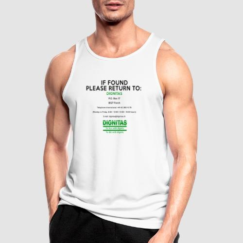 Dignitas - If found please return joke design - Men's Breathable Tank Top