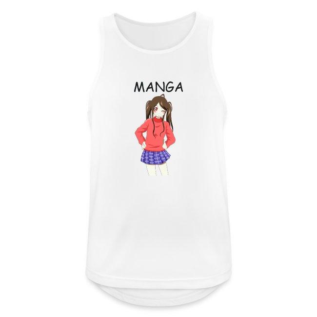 """Anime girl 02 Text """"Manga"""""""