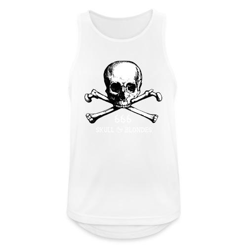 skull & blondes (white) - Männer Tank Top atmungsaktiv