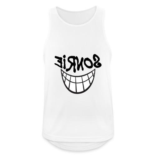 Para el Espejo:Sonrie 01 - Camiseta sin mangas hombre transpirable