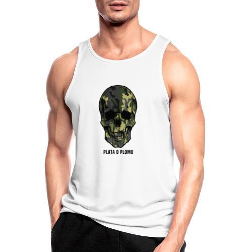 Colombian skull - plata o plomo - Männer Tank Top atmungsaktiv