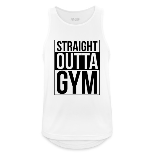 Straight Outta Gym Design. - Men's Breathable Tank Top