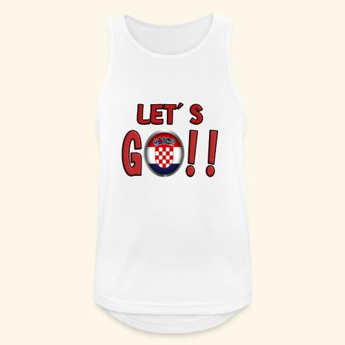 Go Croatia - Canotta da uomo traspirante