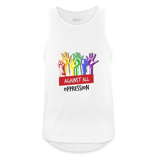 Against All Oppression - Mannen tanktop ademend actief