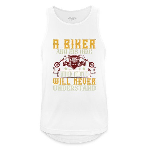 A biker and his bike. - Men's Breathable Tank Top