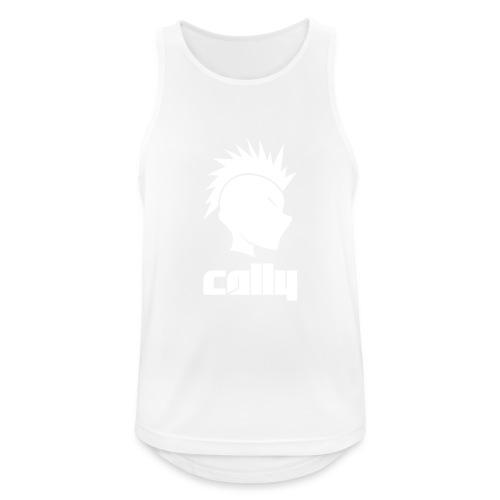 Cally Mohawk & Text Logo - Men's Breathable Tank Top