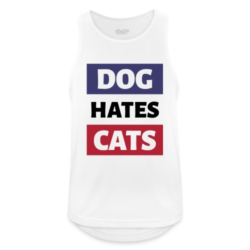 Dog Hates Cats - Männer Tank Top atmungsaktiv