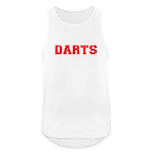 DARTS - Schriftzug in rot - Männer Tank Top atmungsaktiv