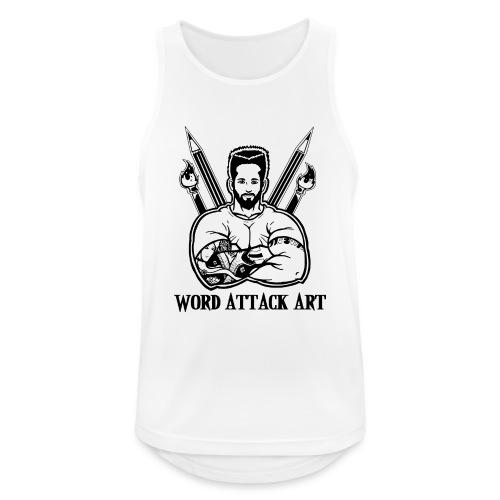 Word Attack Art - Männer Tank Top atmungsaktiv