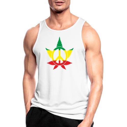 Peace färbig - Männer Tank Top atmungsaktiv