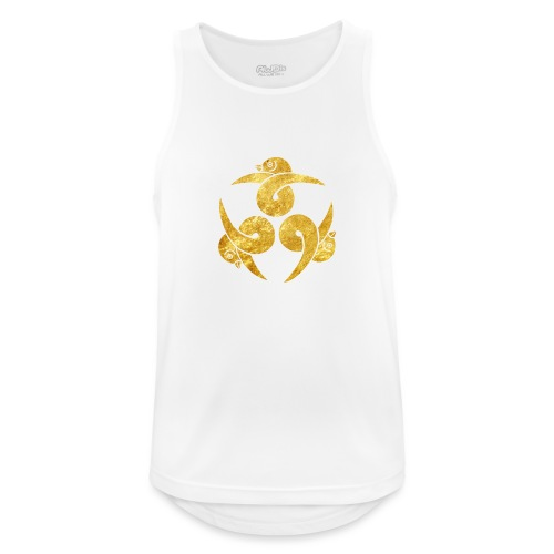 Three Geese Japanese Kamon in gold - Men's Breathable Tank Top