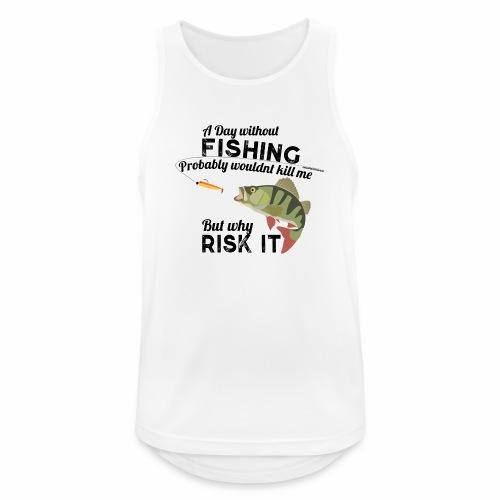 A Day without Fishing Angeln Fishyworm Bass Barsch - Männer Tank Top atmungsaktiv