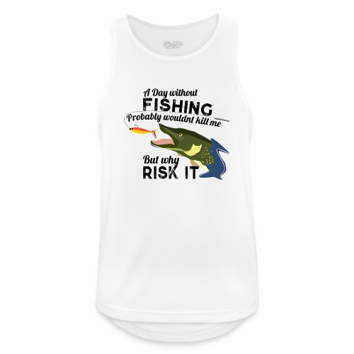 A Day without Fishing Hecht Pike Fishyworm Angel - Männer Tank Top atmungsaktiv