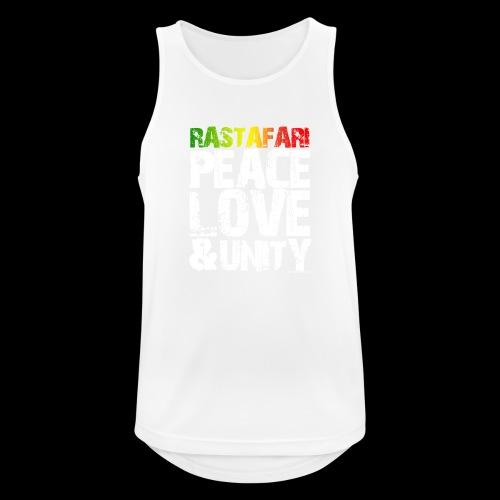 RASTAFARI - PEACE LOVE & UNITY - Männer Tank Top atmungsaktiv