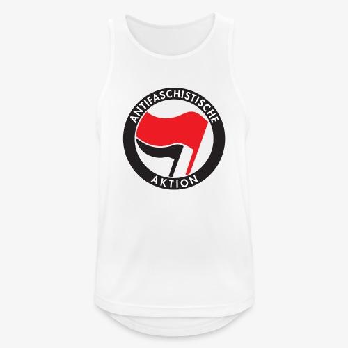 Atnifaschistische Action - Antifa Logo - Men's Breathable Tank Top