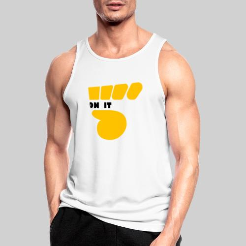 Logo 5 on It jaune / noir - Débardeur respirant Homme
