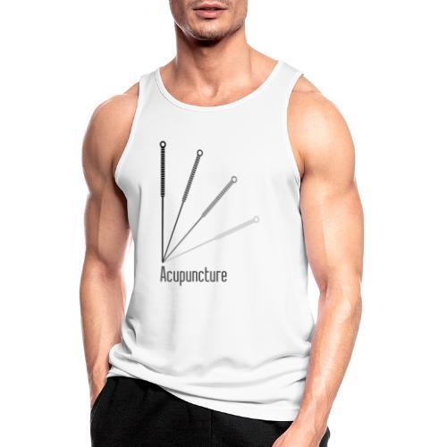 Acupuncture Eventail (logo noir) - Débardeur respirant Homme