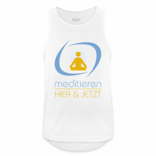 MeditierenHierJetzt.ch - Männer Tank Top atmungsaktiv