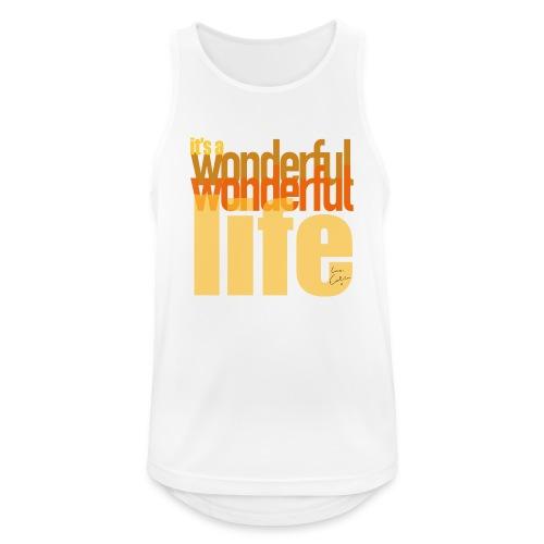 It's a wonderful life beach colours - Men's Breathable Tank Top