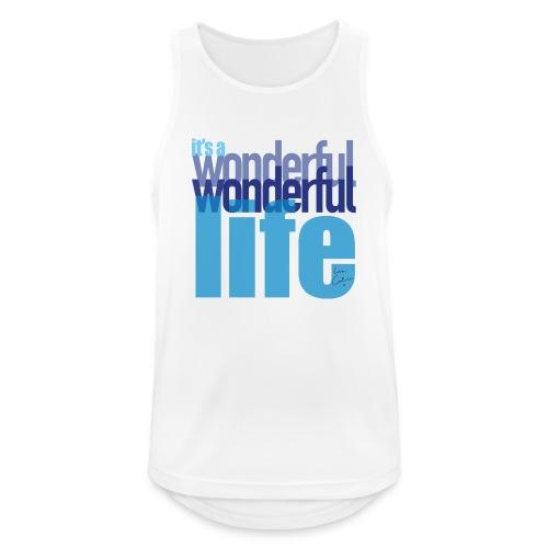 It's a wonderful life blues - Men's Breathable Tank Top