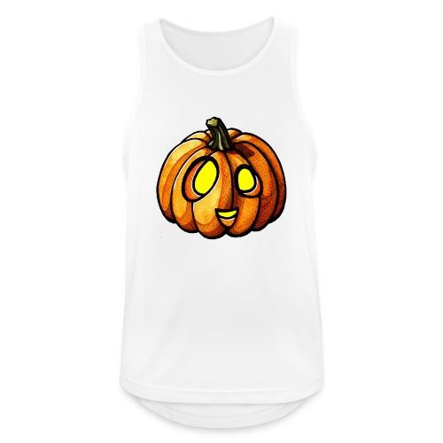 Pumpkin Halloween watercolor scribblesirii - Männer Tank Top atmungsaktiv