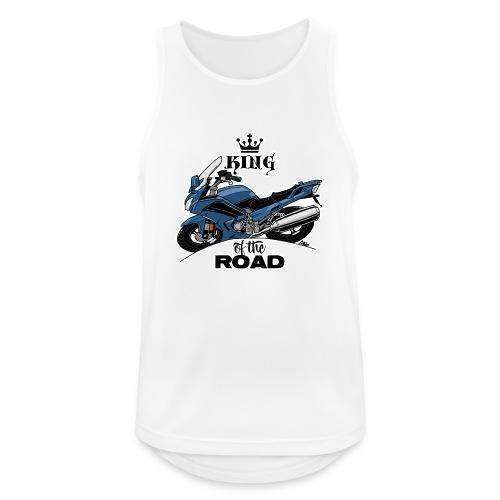 0885 FJR KING of the ROAD (blauw) - Mannen tanktop ademend actief