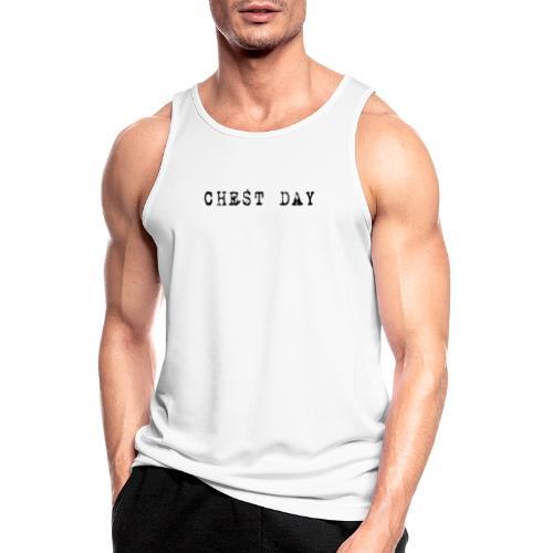 T-Shirt: Chest Day - Männer Tank Top atmungsaktiv
