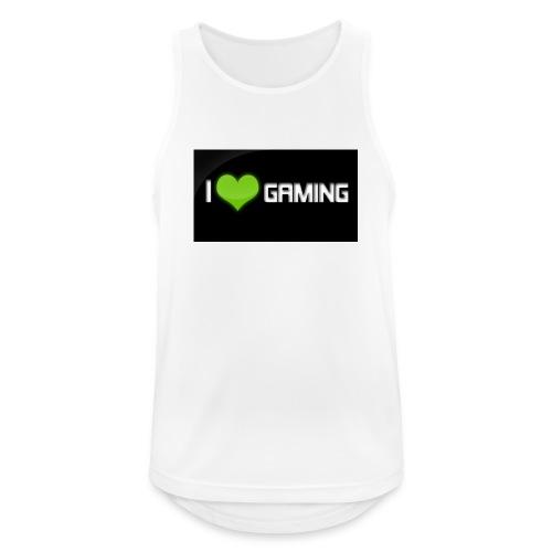 I Love Gaming Shadow Gamer - Männer Tank Top atmungsaktiv