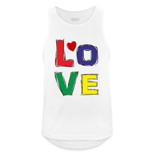 LOVE - Männer Tank Top atmungsaktiv