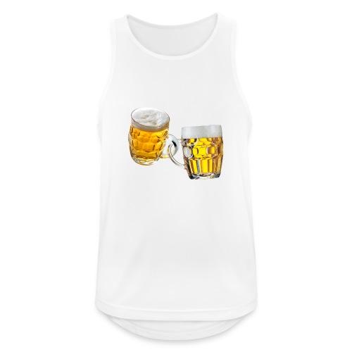 Boccali di birra - Canotta da uomo traspirante