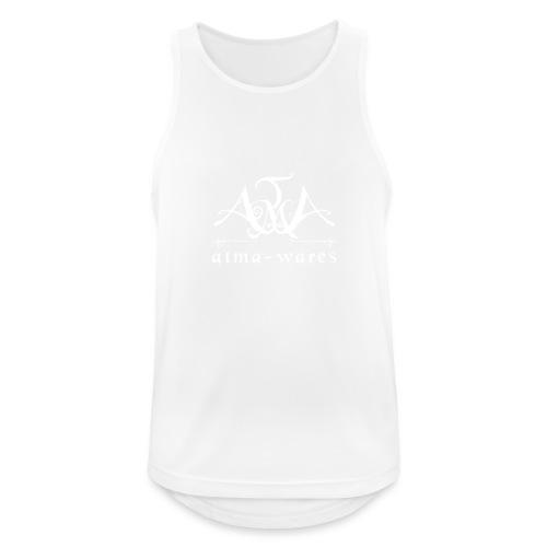 atma wares logo white - Mannen tanktop ademend actief