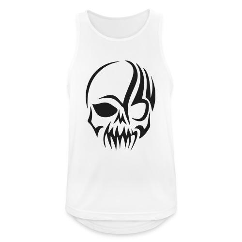 tribals skull - Männer Tank Top atmungsaktiv